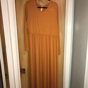 Burnt Orange Zenana Outfitters Maxi Dress 3X